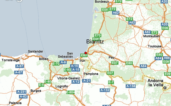 biarritz – map – weather forecast