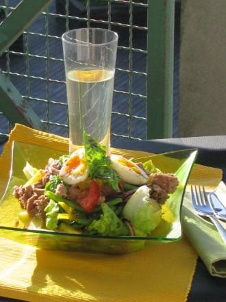 salad in evening sun