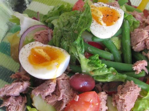 tuna salad close up