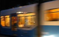 passing tram