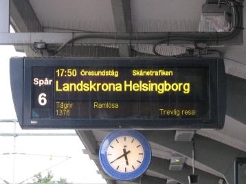 platform sign