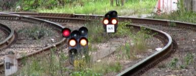 yellow signal lights