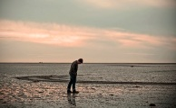 man on the beach  - onewithnow com