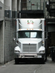Chicago - back alley truck - July