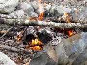 Cowichan Lake, BC - keeping us warm- July