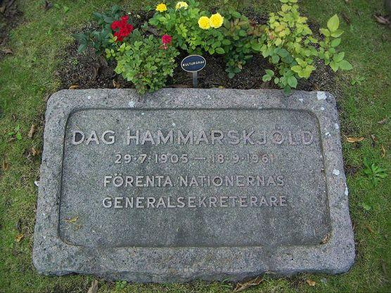 Dag_Hammaskjölds_gravestone - sv.wikipedia org