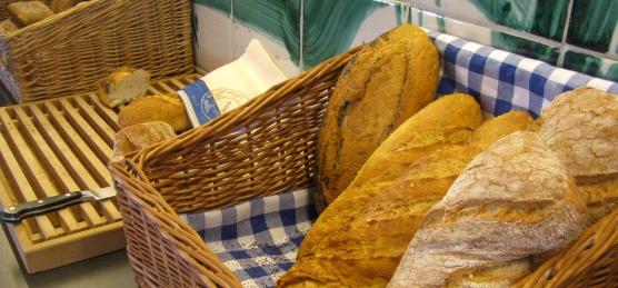 freshly baked warm bread
