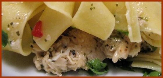 garlic chicken close up