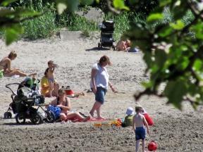 Midsummer beach