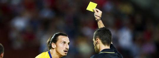 zlatan - yellow card - expressen se