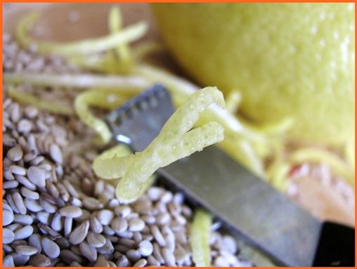 lemon zest frame