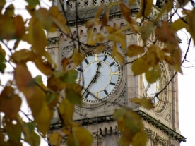 lunch time, belfast clock tower