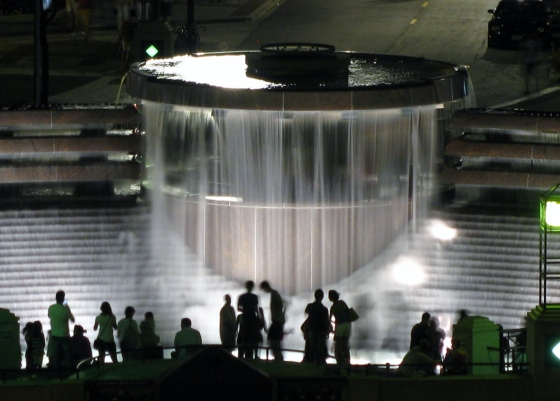 Centennial Fountain night