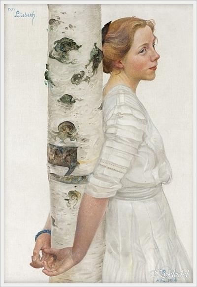 Lisbeth by the birch trunk - yandex ru