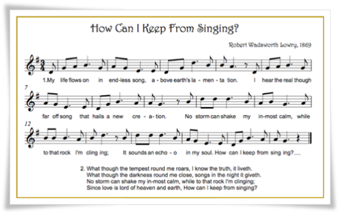 How Can I Keep From Singing - bethsmusicnotes.blogspot com
