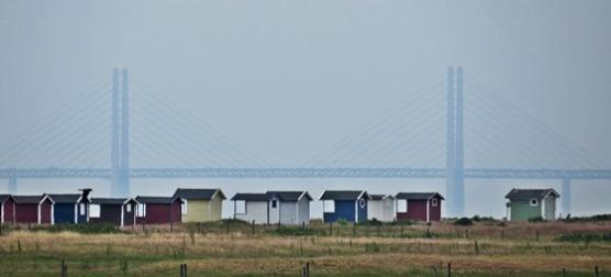 huts & bridge
