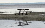table with seaview