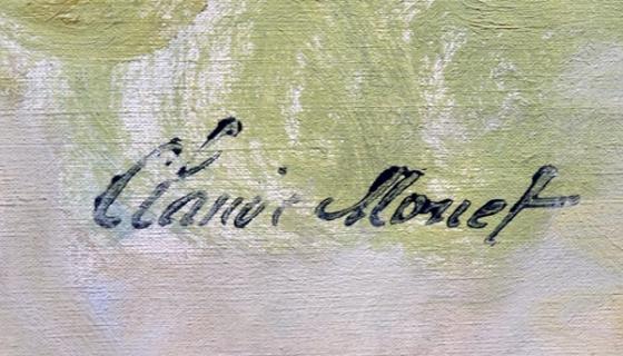 monet signature