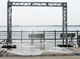 very hot morning at Navy Pier