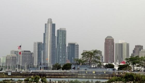 chicago under overcast