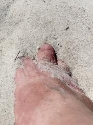 making footprints