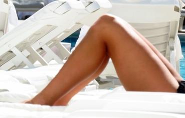 nice legs by the pool