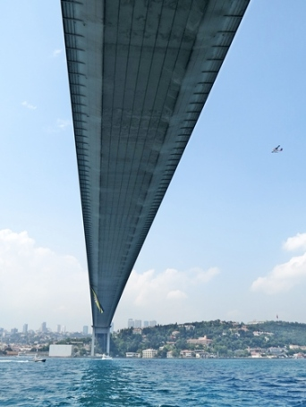 under the Bosphorus Bridge