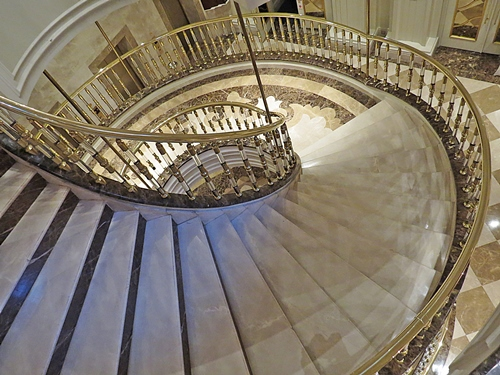 stairs down to the SPA