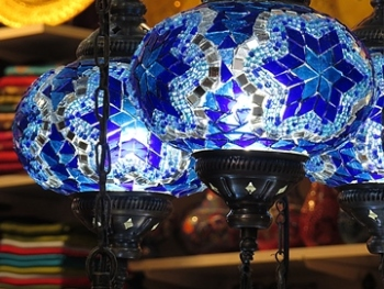 blue lamps - featured