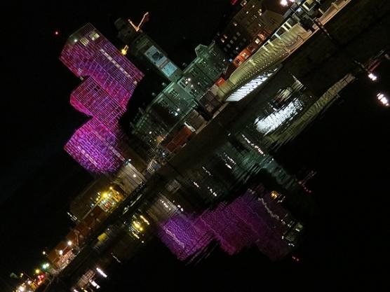 small city - bright lights
