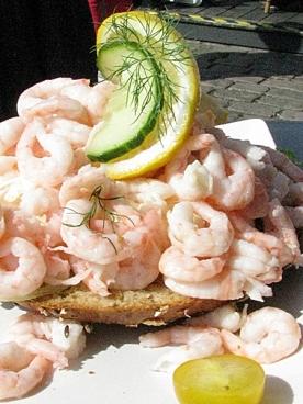 swedish prawn sandwich