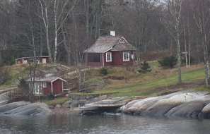 typical swedish summer house
