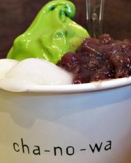 green tea soft ice - hiroshima