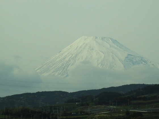 Mt Fuji from the Shinkansen