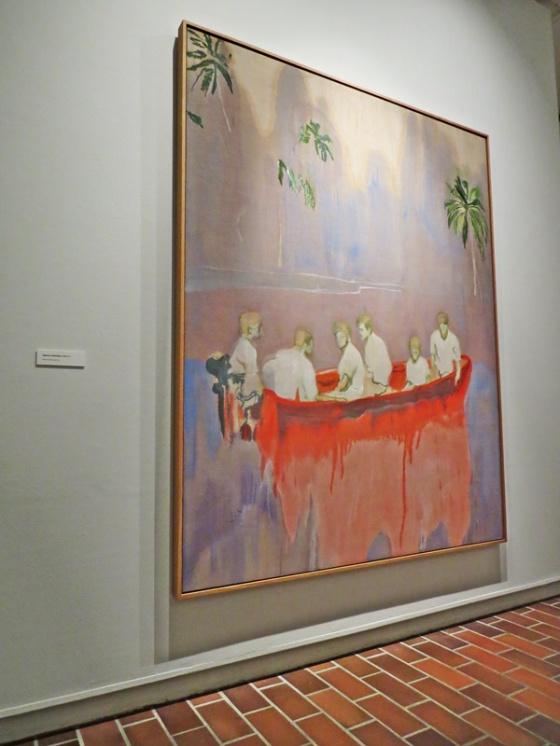 Figures in Red Boat - Peter Doig