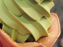 green tea soft ice