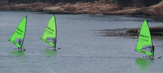 Repluse Bay wind surfers