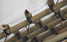 scaffolding close up
