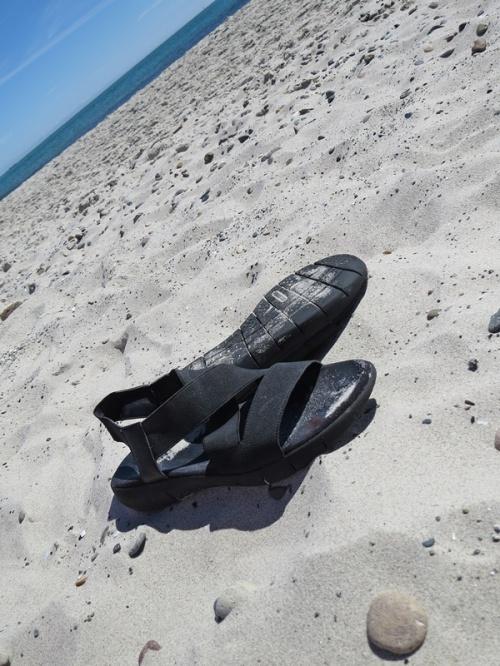 full of sand