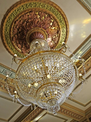 lobby crystal chandelier