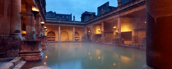 the Roman Baths, Bath, Somerset, England