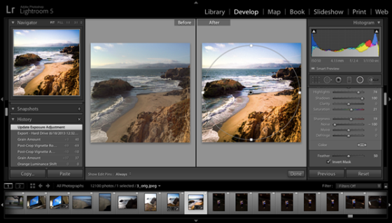 lightroom screen shot - www.tested.com