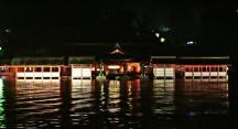 The Itsukushima Shrine by night