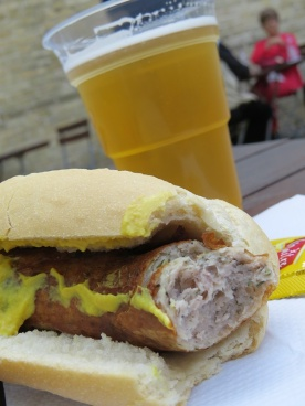 bratwurst and beer