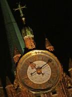 famous clock, night