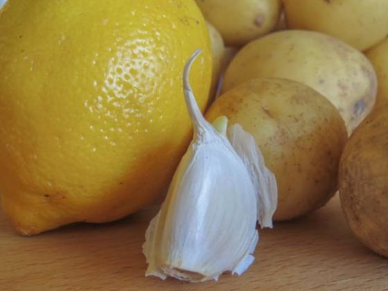 lemon & potatoes