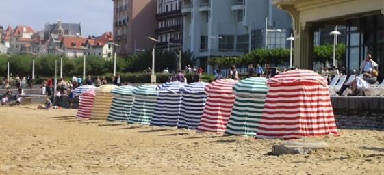 biarritz beach tents