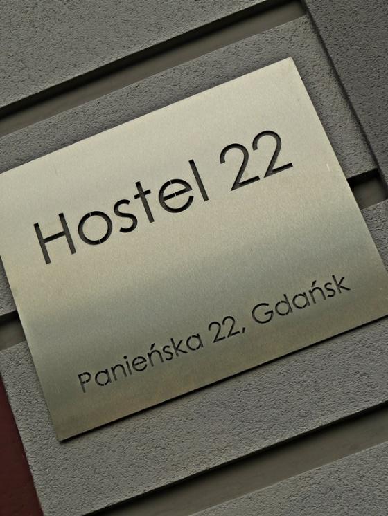 hostel 22 - sign