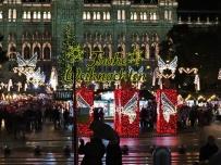 christmas market and rain