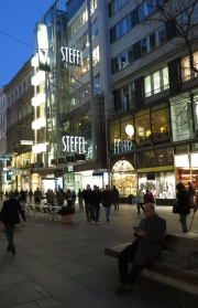 evening in city center